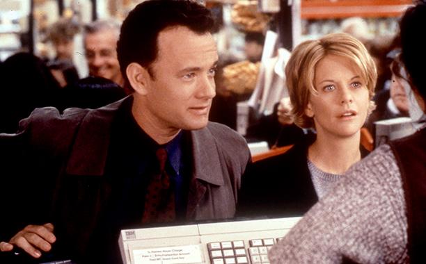 Tom Hanks and Meg Ryan in You've Got Mail in 1998