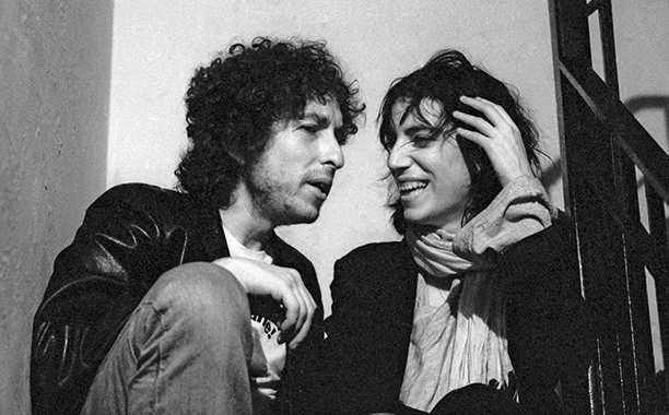 Bob Dylan and Patti Smith in 1975