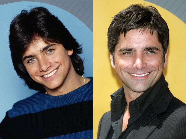 Age in first photo: 20 Age in second photo: 48 Verdict: He's Uncle Jesse; of course he's ''Forever'' young.