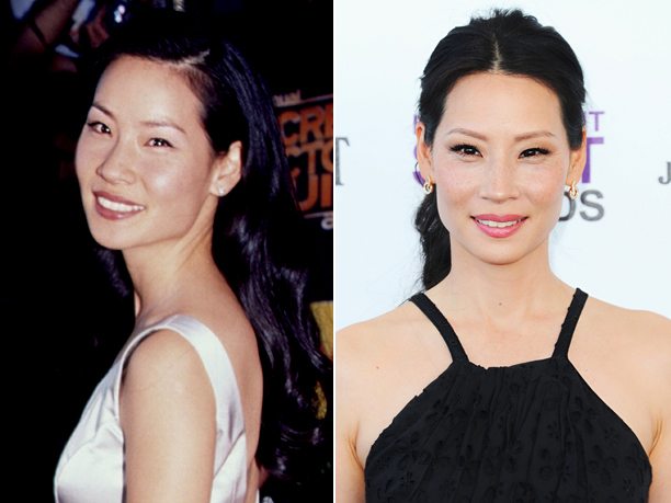 Age in first photo: 22 Age in second photo: 43 Verdict: Of course she's ageless -- she's an Angel , after all.