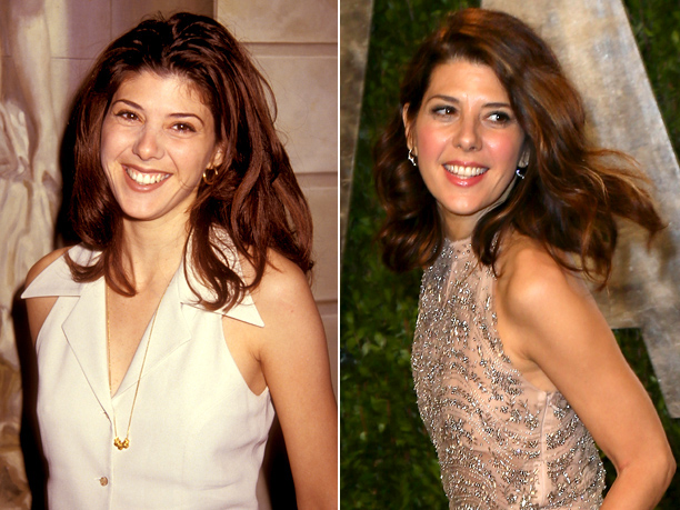 Age in first photo: 28? Age in second photo: 48? Verdict: Her character in My Cousin Vinny is named Mona Lisa — fitting, since Tomei's…