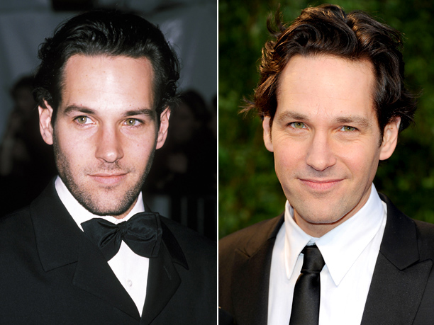 Age in first photo: 29? Age in second photo: 41? Verdict: How does the funnyman stay so baby-faced? We're Clueless .