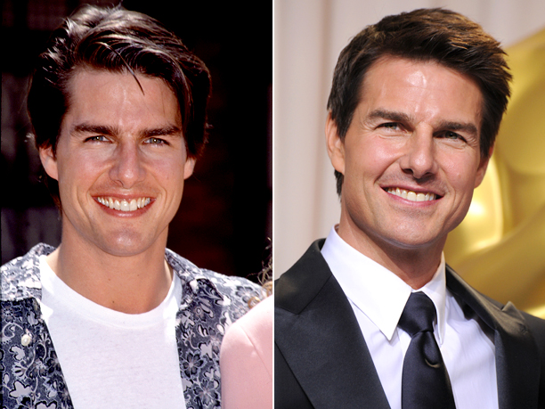 Age in first photo: 26 Age in second photo: 49 Verdict: The guy must be doing something right.