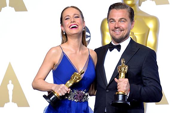 Brie Larson and Leonardo DiCaprio Win Big