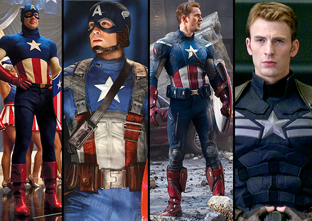 When The Winter Soldier comes out next April, Steve Rogers will be modeling a snazzy new minimalist Cap costume. In what has to be some…