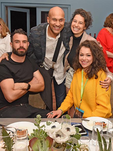 Tom Cullen, Keegan Michael-Key, Ilana Glazer, and Tatiana Maslany