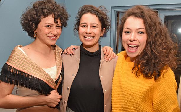 Alia Shawkat, Ilana Glazer, and Tatiana Maslany