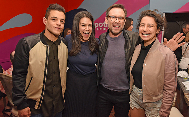 Rami Malek, Abbi Jacobson, Christian Slater, and Ilana Glazer