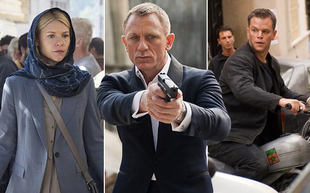 Carrie Mathison, James Bond, Jason Bourne