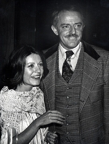 Patty Duke and John Astin in New York City on May 12, 1977