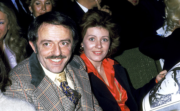 Patty Duke and John Astin in Hollywood on April 9, 1975