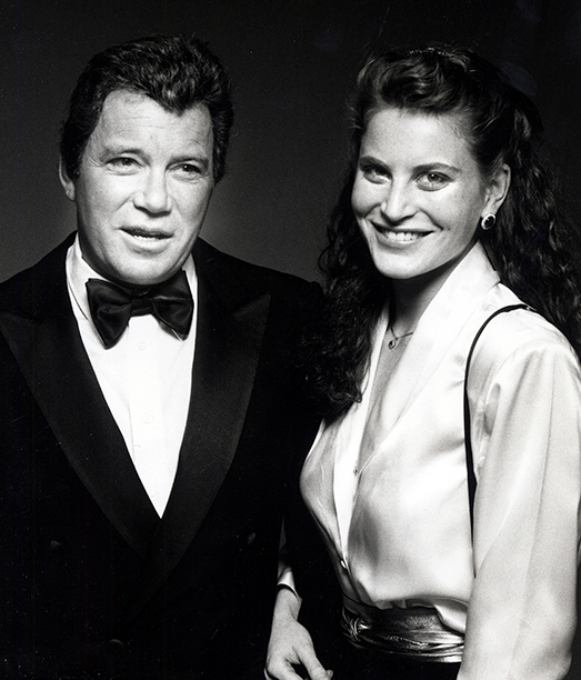 With Marcy Lafferty Shatner, January 28, 1987