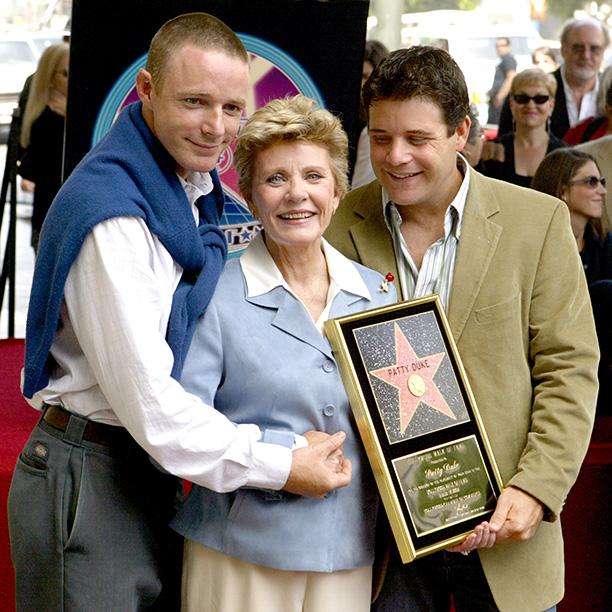 Patty Duke With Her Children Mackenzie Astin and Sean Astin on August 17, 2004