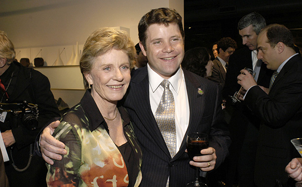 Patty Duke With Her Son Sean Astin on March 30, 2004