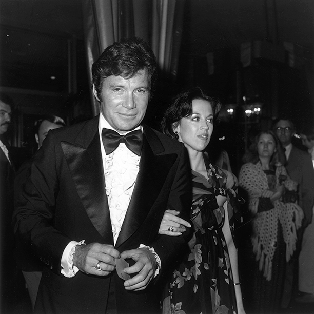 With Marcy Lafferty Shatner, March 1, 1977