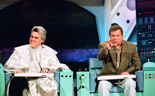 With Jay Leno, November 11, 1997