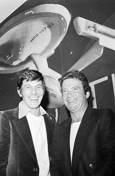 With Leonard Nimoy, March 28, 1978