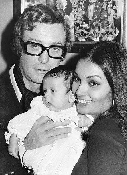 With His Wife Shakira Baksh and Daughter Natasha on September 26, 1973