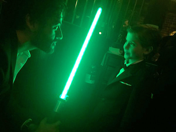 Staging a Lightsaber Battle with Oscar Isaac