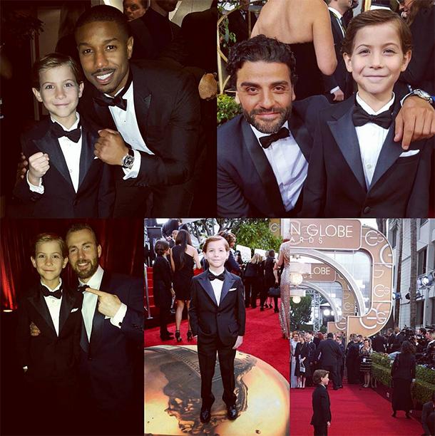 Getting Golden Globes Photos with Michael B. Jordan, Oscar Isaac, and Chris Evans