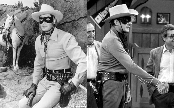 Clayton Moore for John Hart for Clayton Moore (The Lone Ranger on The Lone Ranger)