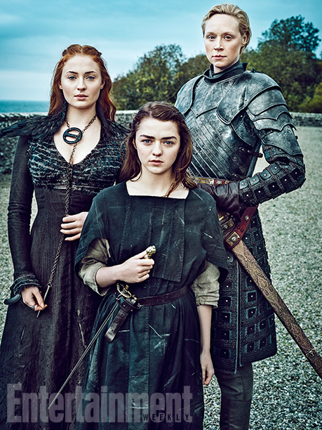 Sophie Turner, Maisie Williams, and Gwendoline Christie