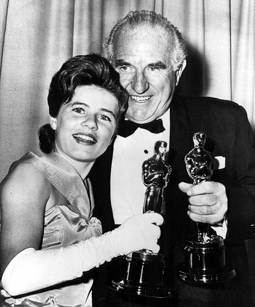 Patty Duke with Ed Begley in 1963