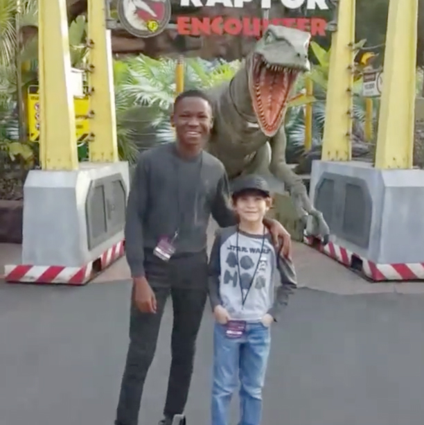 Hanging Out With Abraham Attah at Universal Studios