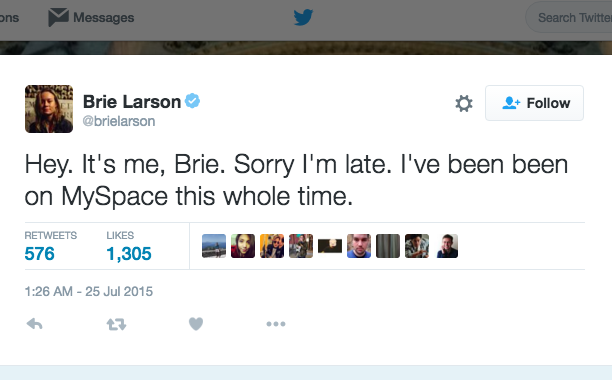 Brie Larson: July 25, 2015