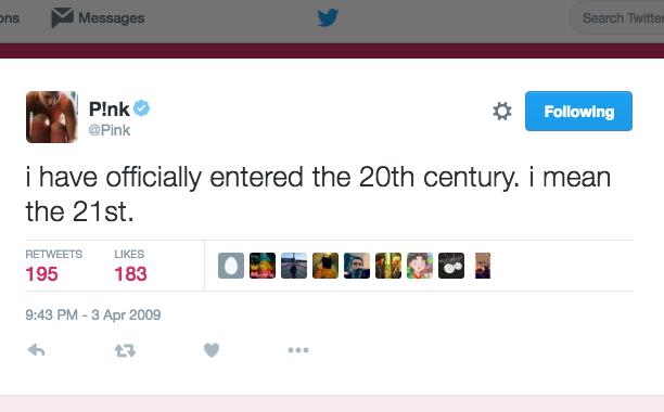 Pink: April 3, 2009