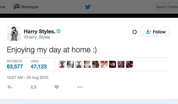 Harry Styles: August 22, 2010