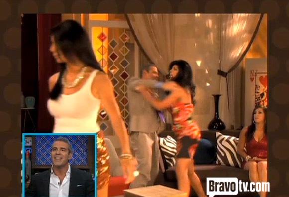 1. Teresa Giudice Shoves Andy Cohen!