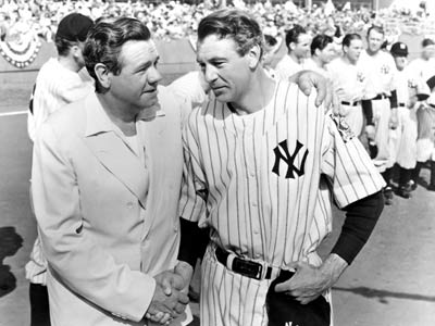 Babe Ruth, Gary Cooper, ... | LOU GEHRIG PLAYED BY Gary Cooper MOVIE Pride of the Yankees (1942) POSITION First base TEAM The New York Yankees, in what may have been…