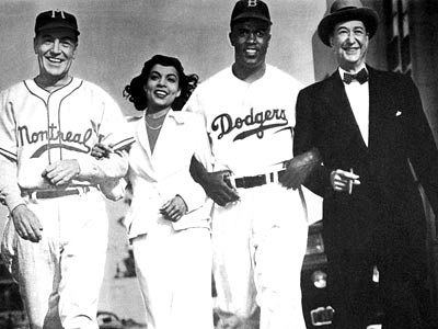 Ruby Dee, Jackie Robinson, ... | JACKIE ROBINSON PLAYED BY Jackie Robinson MOVIE The Jackie Robinson Story (1950) POSITION Second base TEAM The Brooklyn Dodgers, though there's also his personal support…