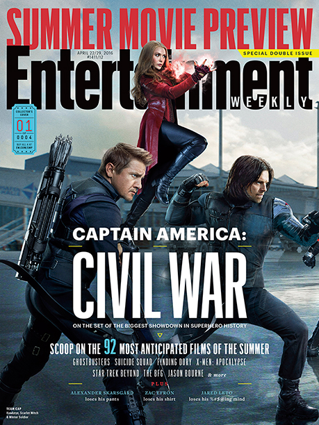 Part One of EW's Four-Section Captain America: Civil War Cover Spread