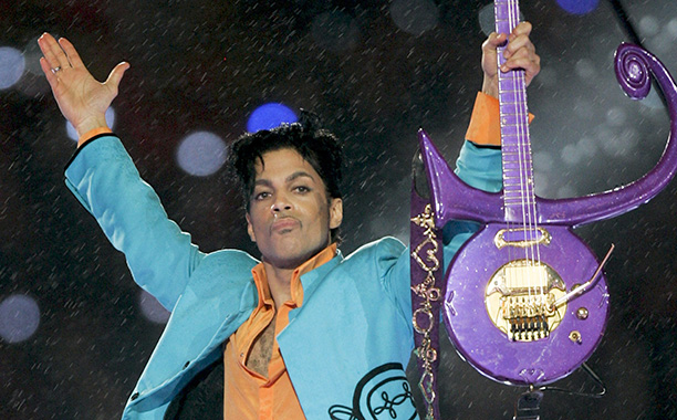 Prince at Super Bowl XLI on February 4, 2007