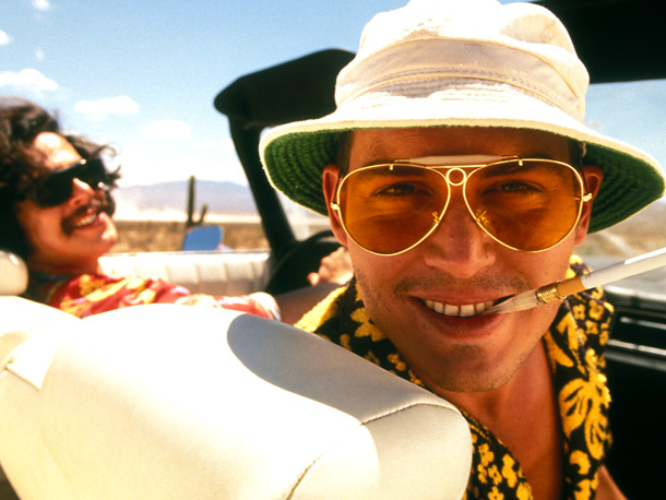 Fear and Loathing in Las Vegas | Marijuana takes a back seat to mescaline and LSD in this bitchin' Hunter S. Thompson trip, but Raoul Duke (Johnny Depp) and Dr. Gonzo (Benicio…