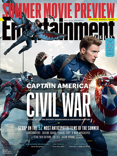 Part Two of EW's Four-Section Captain America: Civil War Cover Spread