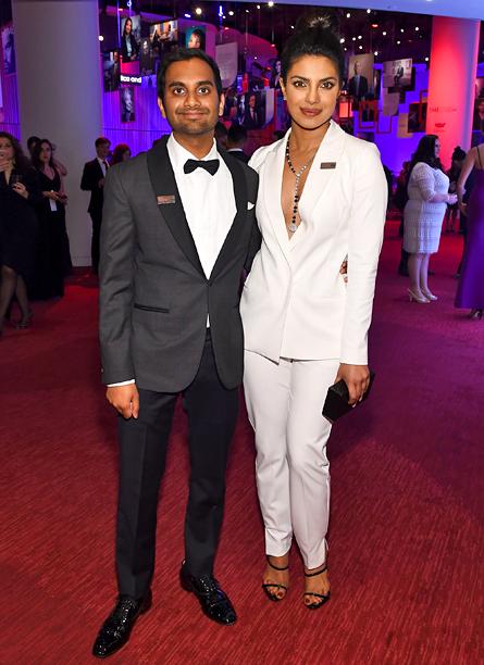 Aziz Ansari and Priyanka Chopra