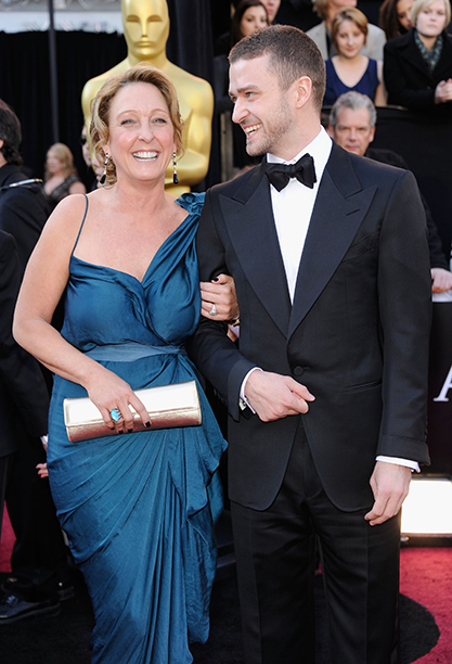 When he brought his mom to the Oscars