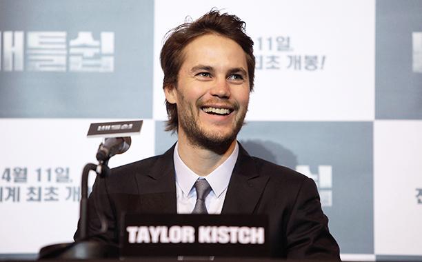 Taylor Kitsch on April 5, 2012