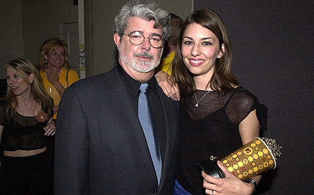George Lucas and Sofia Coppola