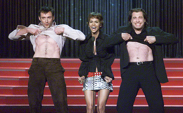 Hugh Jackman, Halle Berry, and John Travolta