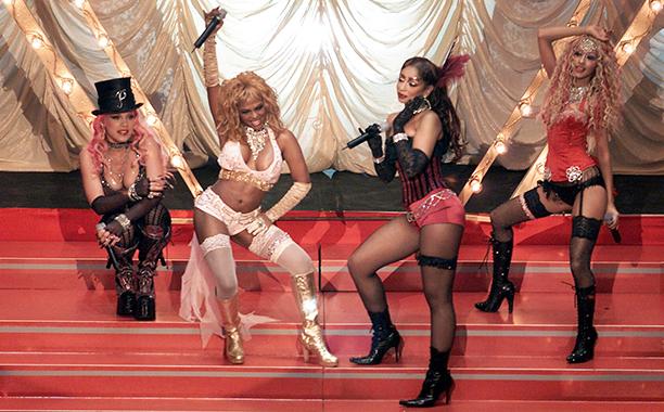 Pink, Lil' Kim, Mya, and Christina Aguilera