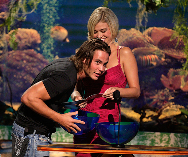 Taylor Kitsch and Adrianne Palicki on August 26, 2007