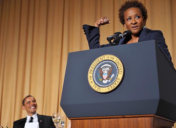 President Barack Obama and Wanda Sykes