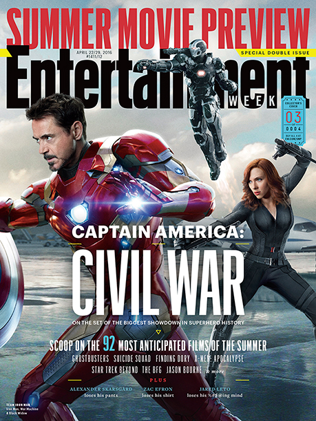 Part Three of EW's Four-Section Captain America: Civil War Cover Spread