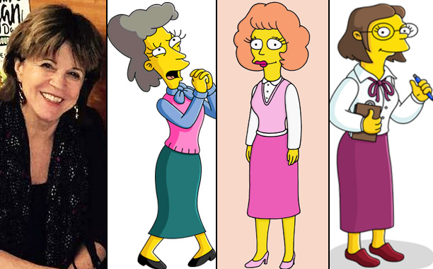 Maggie Roswell Voices Helen Lovejoy, Maude Flanders, and Miss Hoover