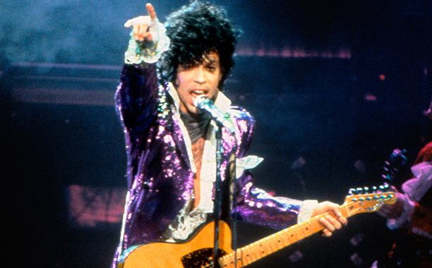 Prince on The Purple Rain Tour in 1984