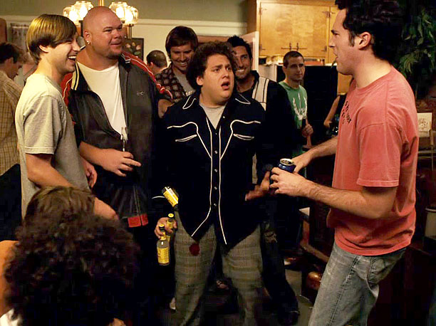 Raunch Factor: 4/10 Reasoning: After grinding with a gal at a house party, Seth (Jonah Hill) is horrified to realize the mysterious red stain on…
